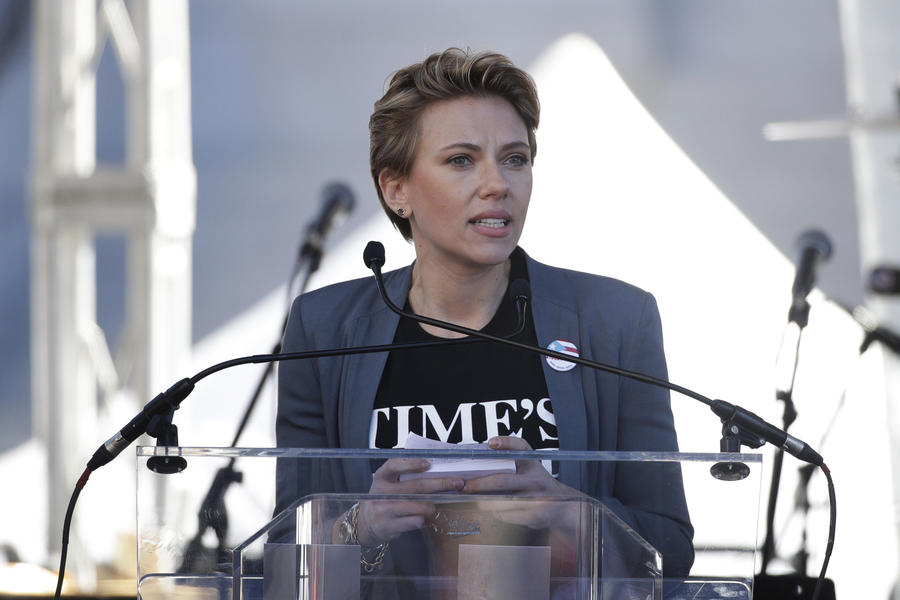 Watch Scarlett Johansson's Powerful Women's March Speech